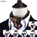 Los hombres de La Vendimia Del Lunar de La Boda Formal Cravat Ascot Scrunch Auto estilo Británico Caballero Corbata de Poliéster de Lujo