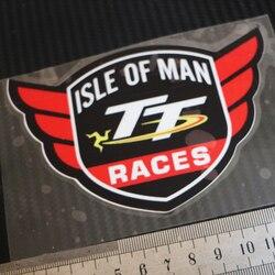 1 piezas moto estilo de coche calcomanías para TT Isla de Man carreras ala pegatina reflectante