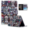 For iPad Mini Case New Fashion Painting PU Leather Wallet Stand Cover Case for Funda Coque iPad MINI 3 2 1 with Card Slot