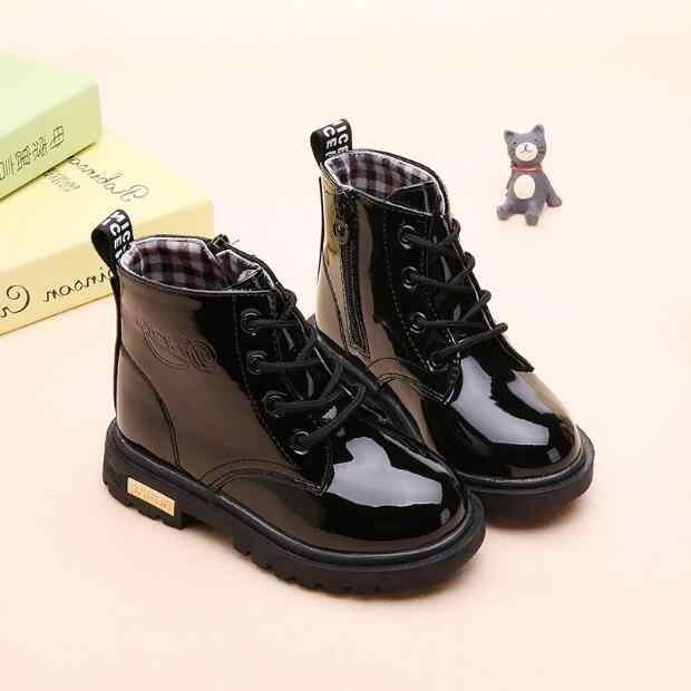 女の子ブーツ秋と冬 2018 新子供の雪のブーツプラスベルベット綿の靴マーチンブーツショートブーツ潮