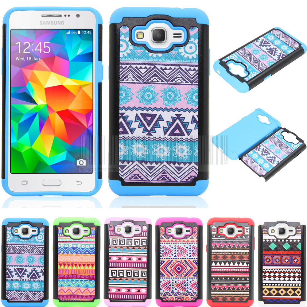 Phone Case For Samsung Galaxy J3 2016 J320 J320F J320P J3109 J320M J320Y Mix Color Anti-shock Tribal Totem Armor Back Cover
