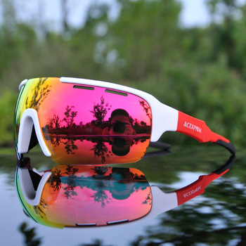 Brand New 2019 spolaryzowane okulary rowerowe Outdoor Sports gogle kolarskie Mountain Bike okulary rowerowe okulary 4 soczewki tanie i dobre opinie Jazda na rowerze TR-90 Poliwęglan Polarized UV400 52mm 135mm Unisex Polarized Cycling Sunglasses Cycling Eyewear MULTI