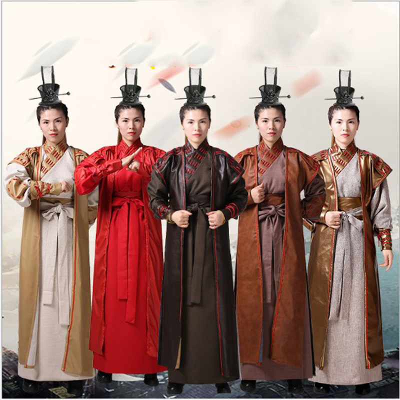 Chinois ancien nouveaux hommes chinois ancien général Tang vêtements armure Hanfu soldats scène performance costume ethnique cosplay costume
