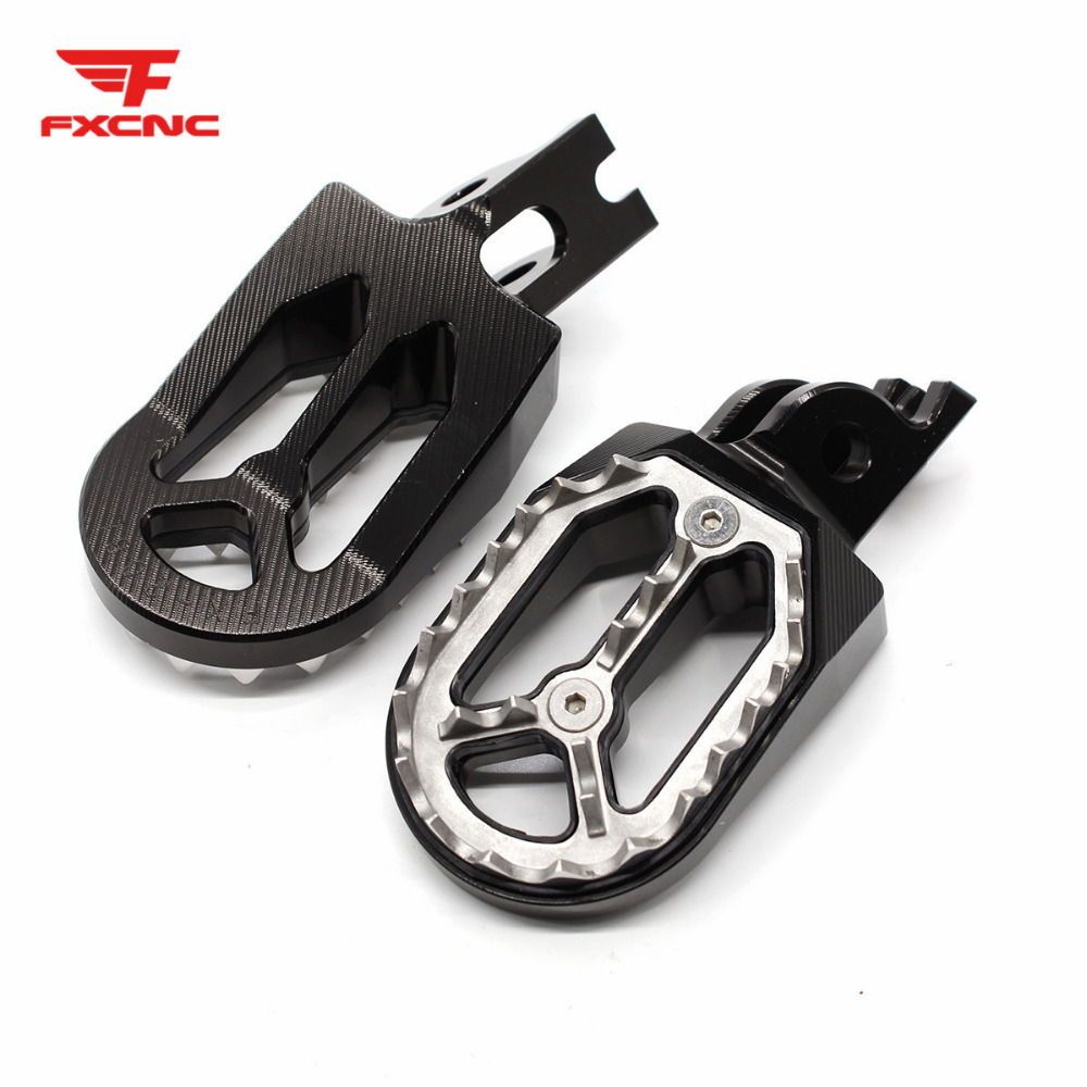 CNC Motocross Foot Pegs Footrest Dirt Bike PitBike Pit Dirt Footpeg For Honda CRF250X CRF250R <font><b>CRF</b></font> 250R <font><b>250X</b></font> <font><b>2004</b></font> - 2015 2005 image