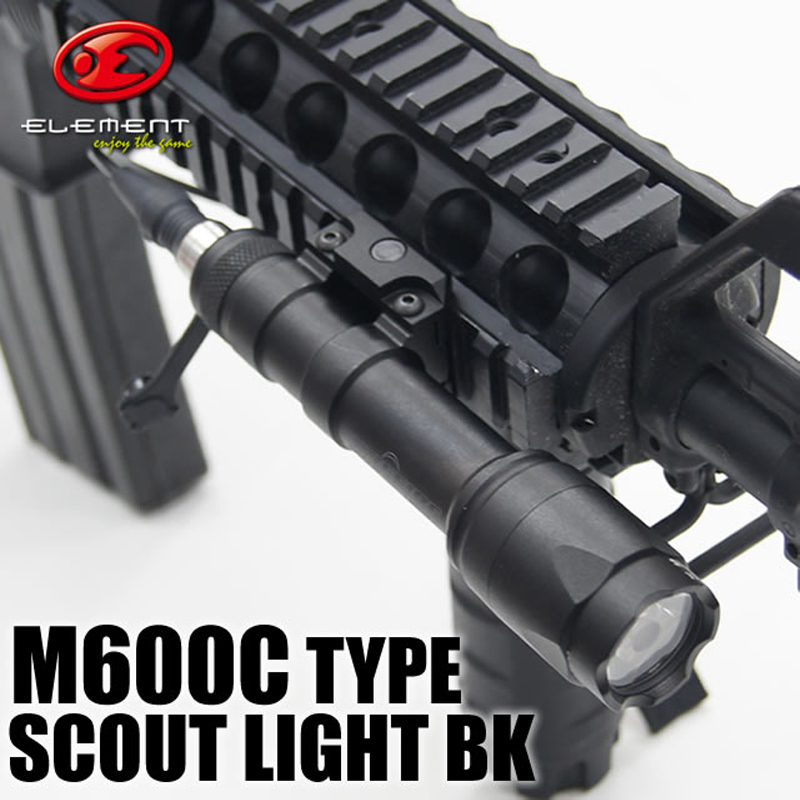Element Airsoft SF LOGO M600C Tactical Weapon Scout Flashlight Hunting Light LED Full Version With Remote Pressure 20mm EX072