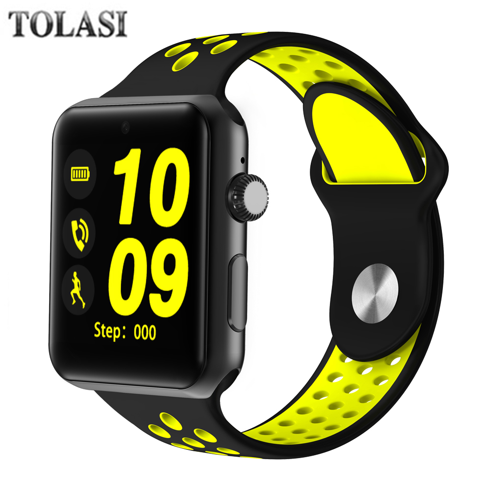 TOLASI Bluetooth Smart Watch men With SIM Card Pedometer Sleep Fitness Tracker Waterproof women Smartwatch for Android IOS 2018 цена