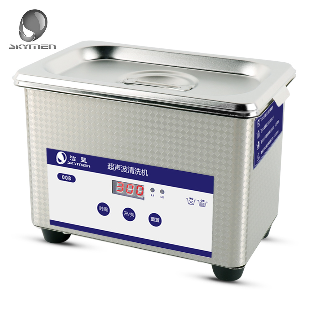 SKYMEN Digital 0.8L Ultrasonic Cleaner Stainless Steel Sterilizing Nail Tools With Degas Heating Timer Bath Ultrasound Washer 15l stainless steel digital ultrasonic cleaner with timer and heater including washing basket