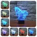 Luminarias Lâmpada usb conduziu a Luz Da Noite Animal 3D Ilusão Visual Led Luzes Da Noite lâmpadas de luz noturna infantil Lâmpada Humor 3D