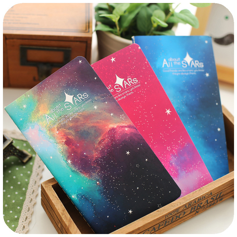 ! 6color 2015 Bright Star planner Creative notebook Blank Pages Journal Diary Notebook - Dream start store