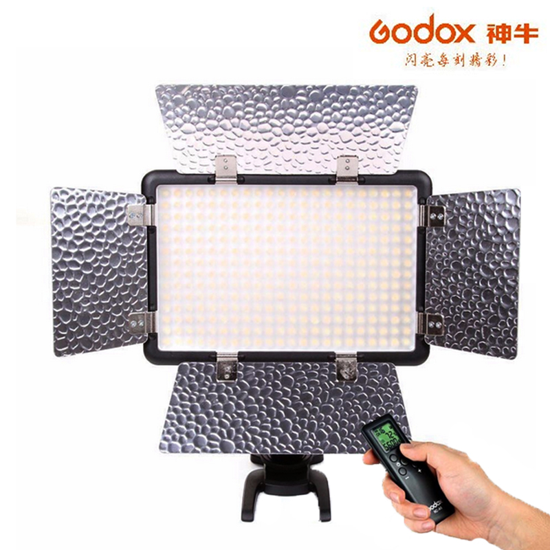 Godox LED308C II 3300~5600K LED Video Light Lamp Panel For Canon Nikon Camera Camcorder DV godox led 308y 308 leds professional led video 3300k light with remote control for canon nikon camera dv camcorder