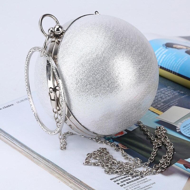 Fashion Brand Women Pearl Ball Evening Bags Earth Round Ball Diamond Clutch Purse Clutches Bridal Wedding Clutch Purse Hand Bags