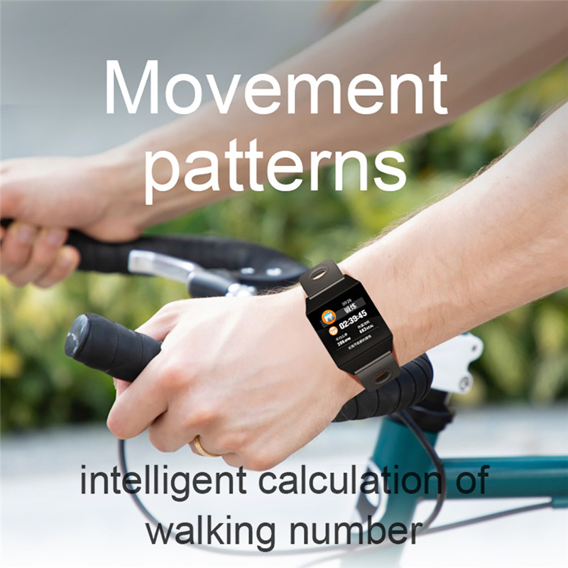 W1 Smart Bracelet Blood Pressure Measurement Color Screen Fitness Tracker Watch Waterproof IP68 Heart Rate Monitor GPS Tracker 9