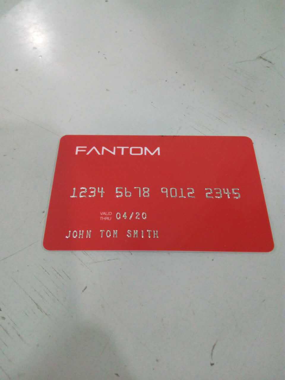 (1000pcs/lot)embossed Numbers With PVC Cards,both Side Printing NBS Embossed Silver Plastic Cards,pvc Cards Embossed