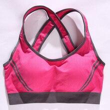 Womens Yoga Sport Bra Shockproof Sexy Back Sports Bras Breathable Athletic Fitness Running Gym Vest Tops Sportswear