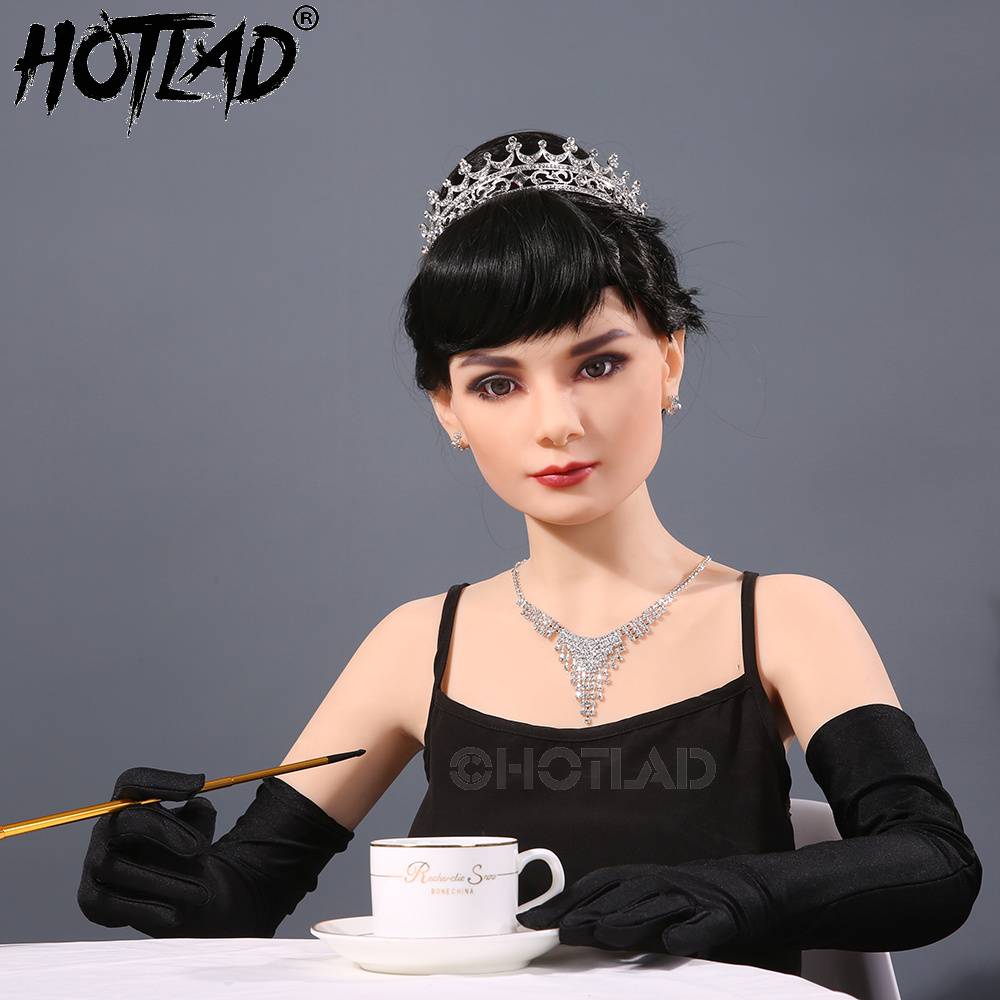 Cosplay Hepburn Real Silicone Sex Doll Celeb Cougar Metal Skeleton Silicone Sex Doll Rea ...