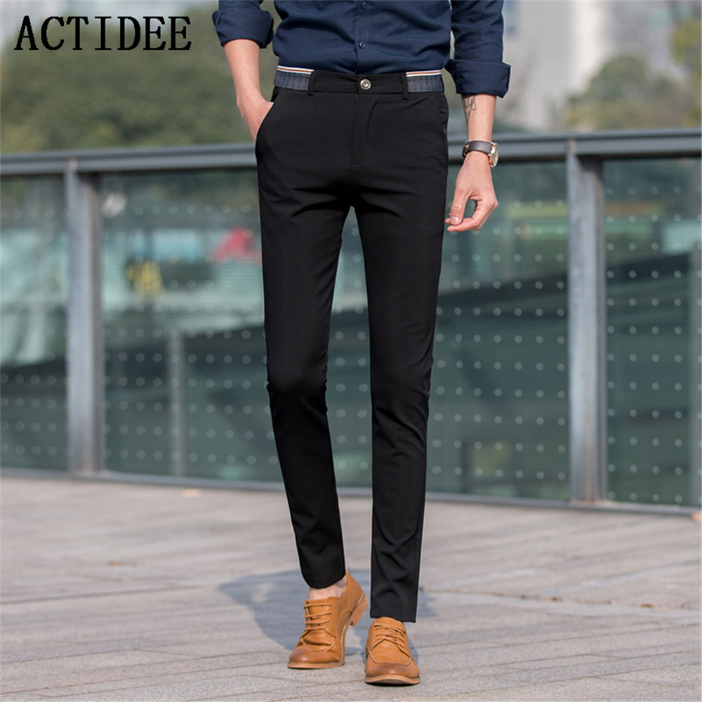 2017 New Brand ACTIDEE High Quality Men Suit Pants Man Casual Western Style Business Trousers ...