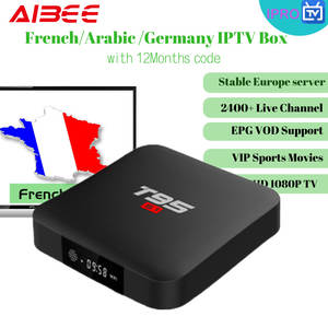 French IPTV Europe Smart-Tv-Box Dutch France Arabic Live-Tv Subscription Android 4k T95 S1