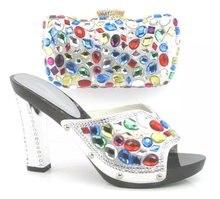 Mode Frau Passenden Schuhe Und Tasche Set Italienische Für Party, Lila Hochwertige Schuh-Und Taschen für Hochzeit (Szie: 38-42) HBQ1-26