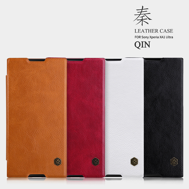 more photos a854e 4b83a US $10.49 |Original Nillkin Qin Series Vintage Qin Flip PU leather smart  case for Sony Xperia XA1 ultra , hared case for xperia xa1-in Flip Cases  from ...