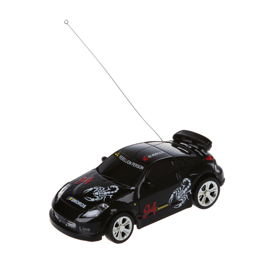 Getrouw Mini Rc Remote Controlled Auto Racing Car Speelgoed In De Drank Kan 1:58 (zwart) Nieuwe