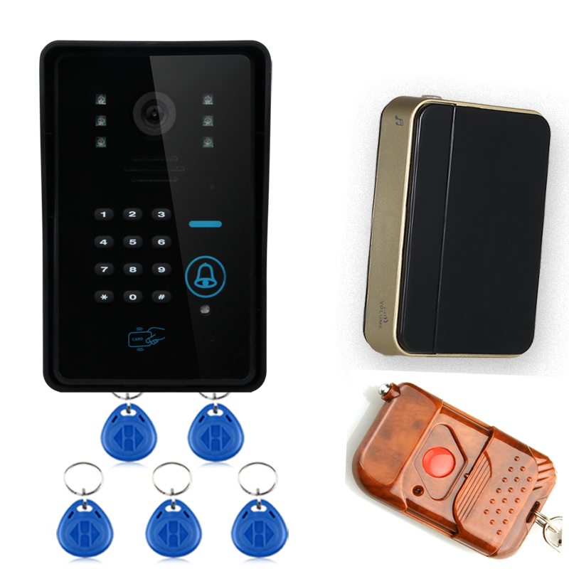 Wireless Video Door Phone WiFi DoorBell IR Camera RFID Touch Keypad Card Reader+Remote Control For Intercom System WIFI006IDS fingerprint recognition wifi wireless video door phone doorbell home intercom system ir rfid camera