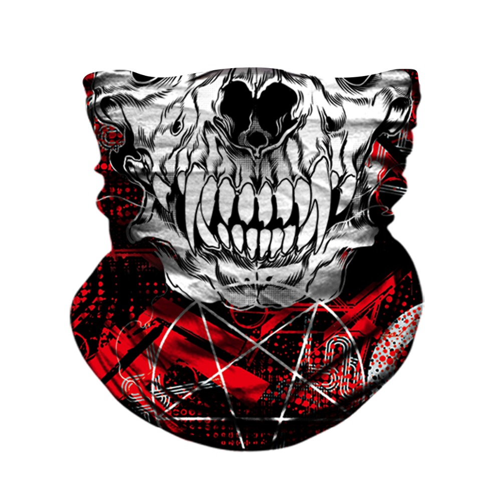 BJMOTO Motorcycle Balaclava Face Mask Shield Skull Ghost Masks Ski Scary Moto Helmet Maska Anti-UV Windproof Scarf Bandana