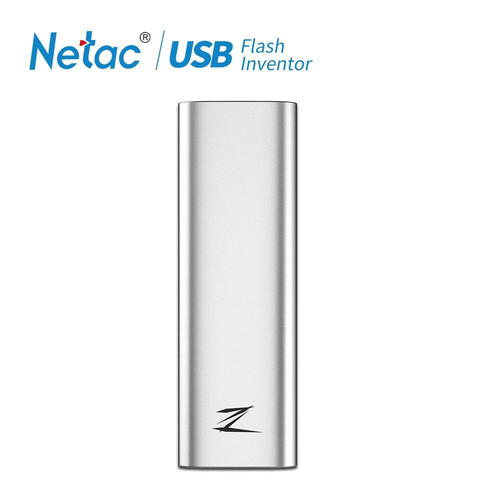 Netac 128GB Type c USB 3.1 Mobiele Solid State Disk Z Slanke Draagbare SSD 30g Aluminium schokbestendig Schijf Gen1 Hoge Snelheid-in Externe Solid State Drives van Computer & Kantoor op AliExpress - 11.11_Dubbel 11Vrijgezellendag 1