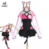 ROLECOS Индивидуальный размер игры Tekken 7 Косплей Костюм Lucky Chloe Косплей Женский костюм милый сексуальный костюм кошки для игровой Вечерние