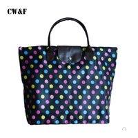 2018 Four Color Large Hand Held Shopping Bag Multi Purpose High Capacity Nylon Folding Female Shoulder