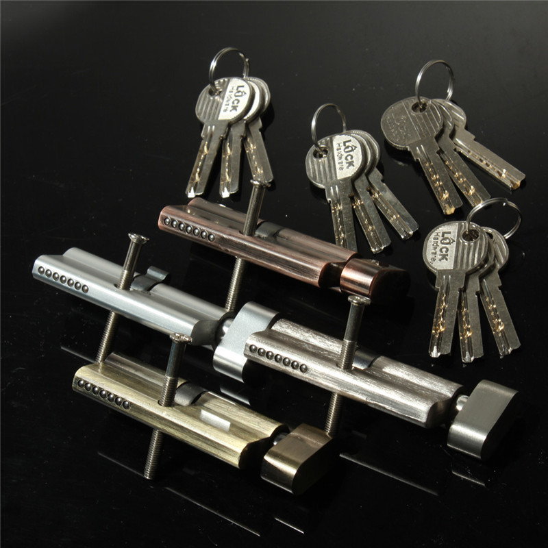 New Arrival Home Safety Cylinder Thumb Turn Cylinder 70mm(35/35) Door Lock With 3 Keys Four Color