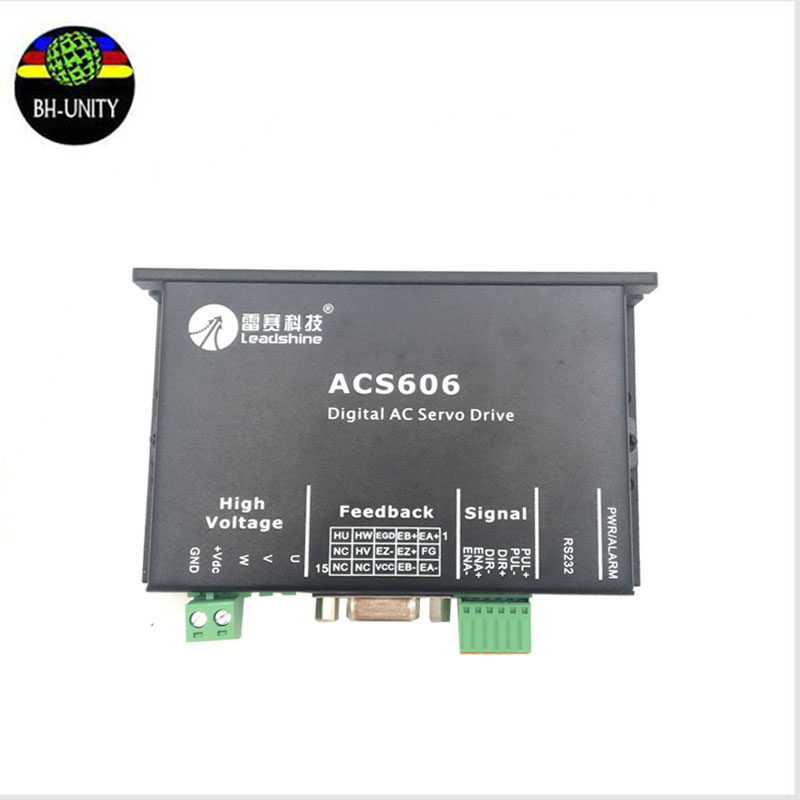 Top quality! Leadshine ACS 606 motor servo driver for crystaljet solvent inkjet printer spare parts for sale  free shipping infiniti solvent printer spare parts digital ac servo drive amt 806