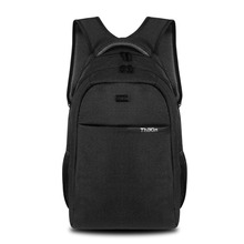 Men Black Business Daypack 16 Inch Laptop Rucksack Nylon Waterproof Ipad Knapsack Solid Color School Bags for Teenagers