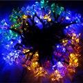 LED solar 30 LED Solar Luces de la Secuencia de Las Luces de Navidad/Decoración Del Partido de la Venta Caliente Al Aire Libre de Iluminación Envío Gratis
