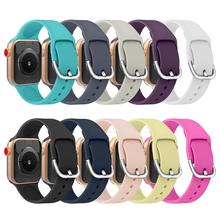 Silicone Strap For Apple Watch band apple watch 5 4 3 44mm 40mm 42mm 38mm iwatch correa pulseira accessories