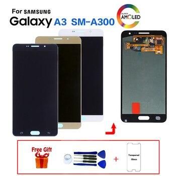 AMOLED Voor Samsung Galaxy A3 SM-A300F A300FU Scherm LCD Vervanging voor Samsung A300M A300Y A3000 A3009 display module