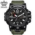 Smael marca hombres deportes relojes dual display analógico digital led reloj electrónico de cuarzo relojes 50 m impermeable natación watch1545