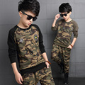 Hot Sale Children Camo Set 2017 Spring/Autumn New Style Long Sleeves Sport Suit Boys 5-16Years Old Kids Camo Sport Suit