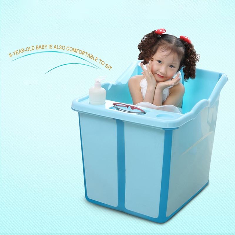 Top quality fold Thicken large baby bathtub kids bath barrel bucket ...