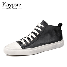 Kaypsre Vintage genuine leather casual shoes 2017 spring/autumn men's fashion breathable