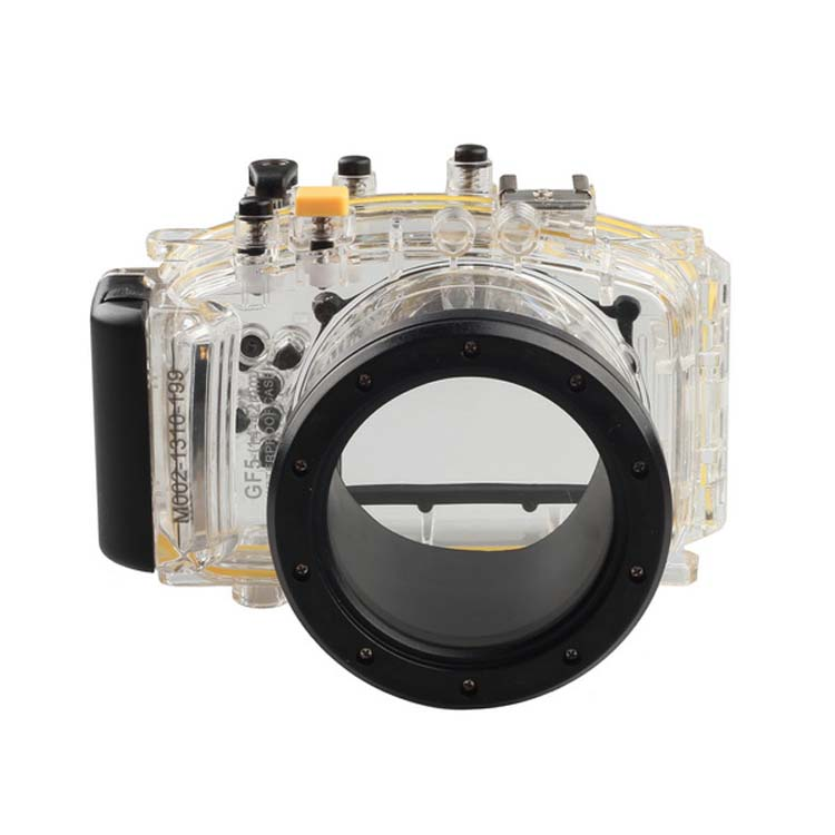 Waterproof Underwater Housing Camera Housing Case for Panasonic Lumix GF5 14-42mm lens Meikon v neck lace up front loose t shirt in white