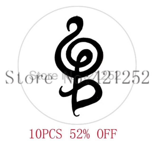 Hakuna Matata Symbol In Black White Necklace Keyring Bookmark