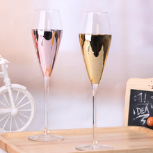 wedding decoration Electroplated lead-free crystal goblet champagne 101-200 ml supplies decorations for home