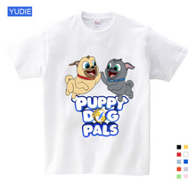 Childrens Summer Clothes Dog Printed Tee Lovely Girls Boys T Shirt Gifts for Children Birthday Kids 8 To 12 YUDIE