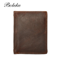Vintage Men Wallets Oil Wax Leather Wallets For Men Multi Function Men Wallet With Coin Pocket