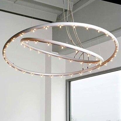 Nordic modern LED Pendant Light Circle Rings For Living Room Dining room Led Lustres Modern LED Pendant Lamp