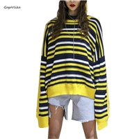 Rainbow stripes sweater jumper knitwear 2019 slim sexy women's Round Neck sweaters and pullovers colorful pull Jumper SA186S50