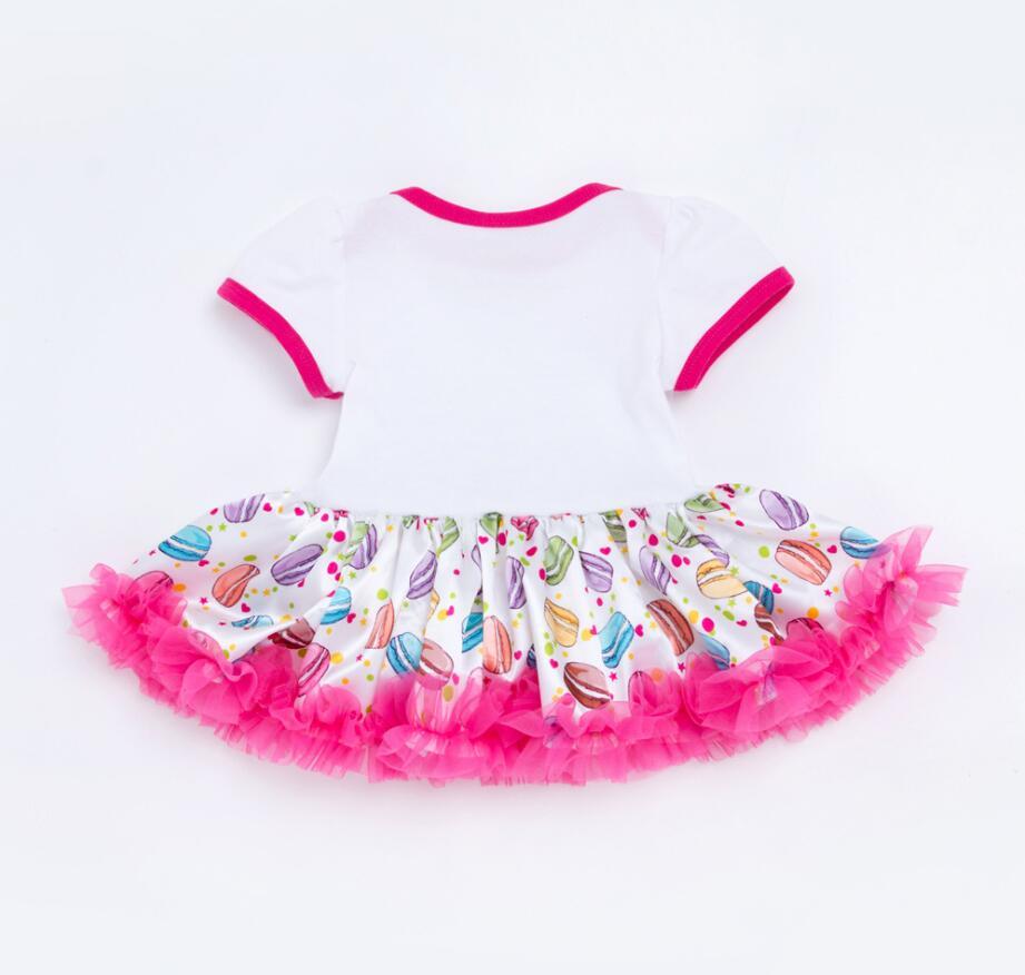 4 PCs por Conjunto Princesa Rosa Quente Vestido Tutu Meninas Do Bebê  Jumpersuit coroa Tiara Floral Retro Sapatos Têm um Bom Dia Impresso Vestido  em Vestidos ... e1c06c0d9c1