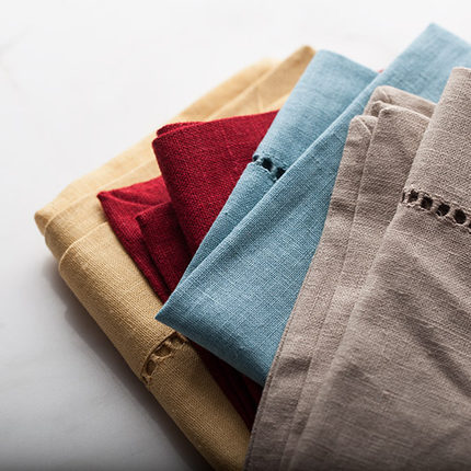 Kitchen Towels Creative Linen Cleaning Cloth For Glass Cups Hotel Dinner Cloths EcoFriendly Tea Towel Dish-Cloth 4 Colors Choice