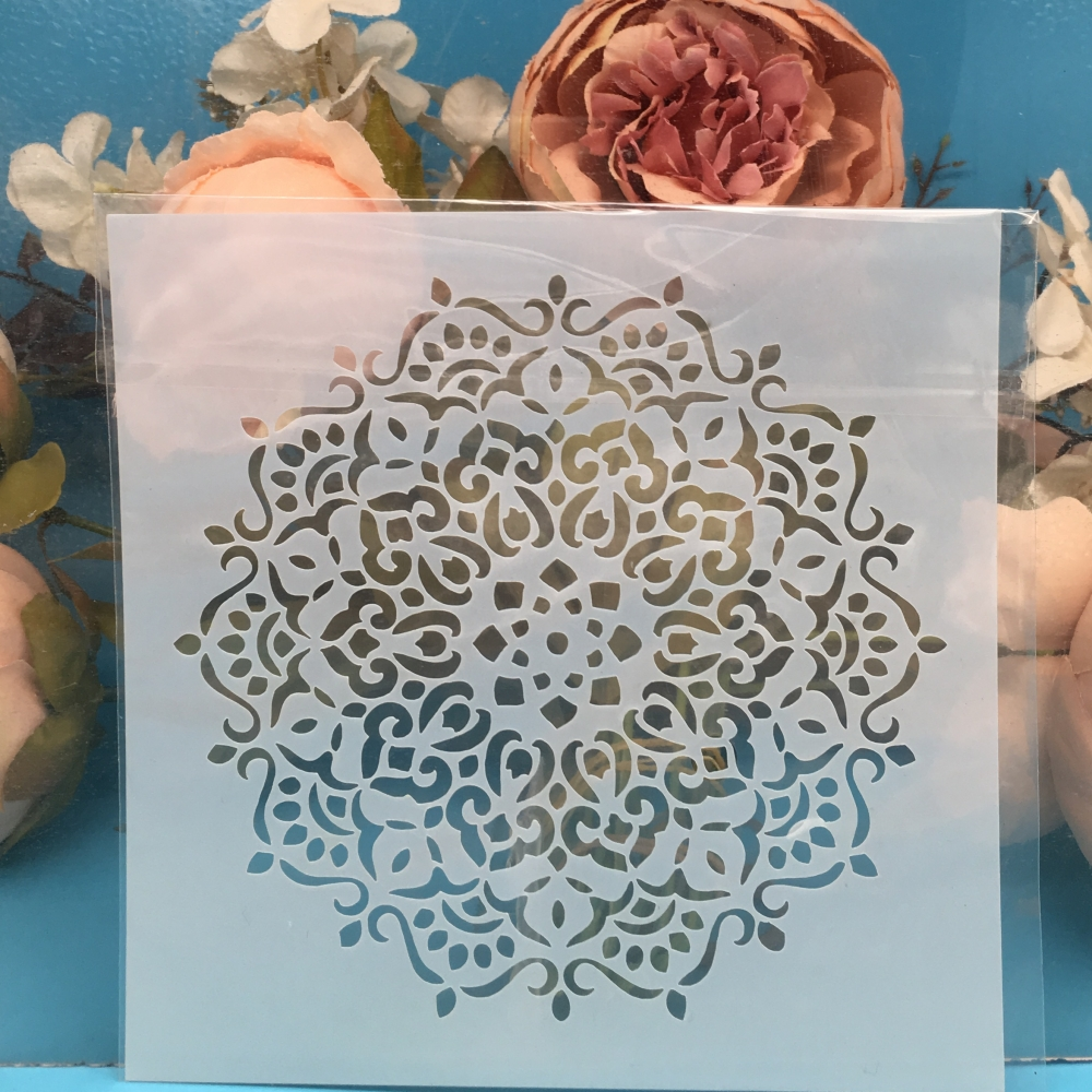 1Pcs Flower Circle DIY Craft Layering Stencils Wall Painting Scrapbooking Stamping Embossing Album Paper Card Template F5547