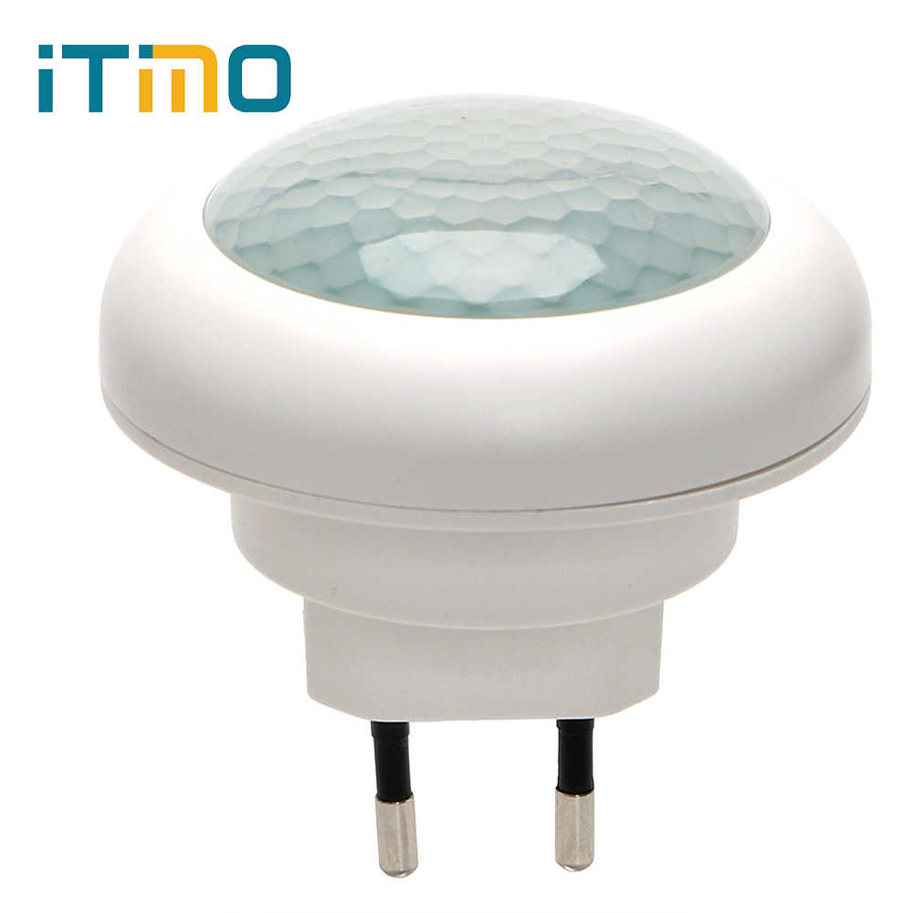 ITimo EU Plug LED Night Light Indoor Lighting Luminaire With Motion Sensor Socket Lamp  Energy Saving Plug-in Wall Lamp